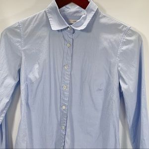J Crew Stretch Perfect Shirt Size XS Button Front